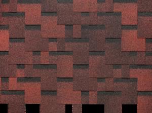 Гибкая черепица Деке / Docke Pie Basic, коллекция Лабиринт, цвет Красный, упаковка 3,0 м2