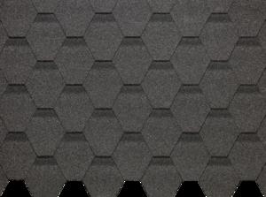 Гибкая черепица Деке / Docke Pie Basic, коллекция Шестигранник, цвет Серый, упаковка 3,0 м2
