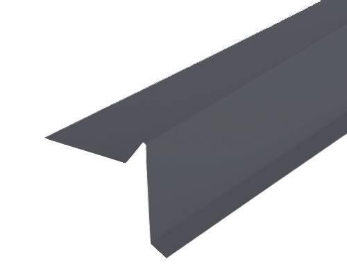 Торцевая планка (ветровая) Docke (Дёке) 2000мм РЕ Ral 7024 (серый)