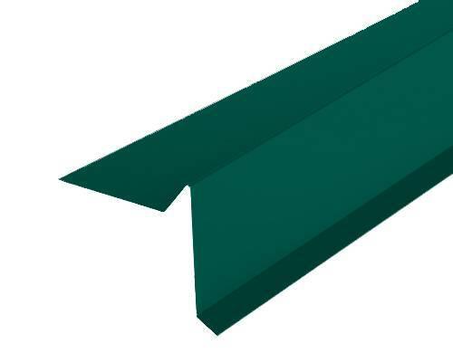 Торцевая планка (ветровая) Docke (Дёке) 2000мм РЕ Ral 6005 (зеленый)
