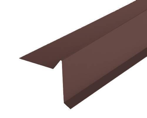 Торцевая планка (ветровая) Docke (Дёке) 2000мм РЕ Ral 8017 (коричневый)